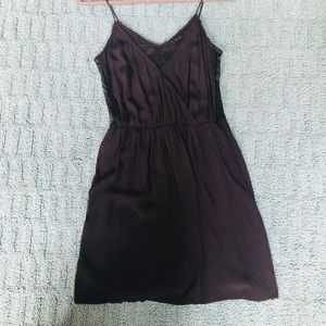 Black Zara mini dress with lace paneling